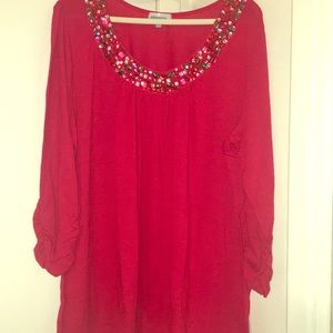 Never worn, Stunning Red Top!